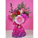カリフォルニアスタイル花束 あす楽13時まで 送料無料 水かえ不要 花瓶いらず花束 そのままブーケ