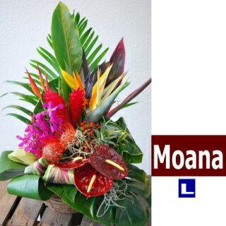 ハワイアンバスケットフラワーアレンジ Hawaiian Basket Flower MoanaL スタンダードハワイアンアレンジフラワーMoana-Lsizeハワイの風Moanaな花を吹かせます。送料無料。