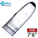 """EXTRA / エクストラ  ファンボード用  バブルケース 7'6""""  サーフボード用ボードケース  エアパッキンインナーケース サーフィン .."""