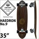 carver カーバースケートボード C7トラック Haedron No.9 ヒードロン 35インチ コンプリート サーフスケート サーフィン トレーニング ..