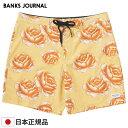 BANKS JOURNAL バンクスジャーナル メンズ ボードショーツ BS0241 POLLEN BOARDSHORT サーフトランクス 水着 海パン 膝上 男性用