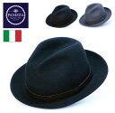 送料無料【PANIZZA】パニッツァ イタリア製 高級 中折れハット メンズ 帽子 大きいサイズ 秋 冬