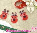 【CB】アクセサリーパーツ 赤いトナカイ 2個 クリスマスに...