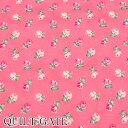 【A】 《生地》 スケア 2色のミニ薔薇 10cm D濃いピンク QUILT GATE キルトゲイト RU2380-15 Ruru Bouquet ルルブーケ