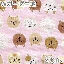 [BE4] コスモ もちもち猫フレンズ Dピンク系 10cm AP-12904-2 Wガーゼ生地