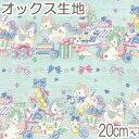 [AA7] コスモ ユニコーンパーティー Cブルー系 10cm AP-21401-3 オックス生地 (88)