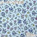 [AB4] イブキ 秋の小花柄 Dブルー系 10cm N-99096-2 シーチング生地 (88)