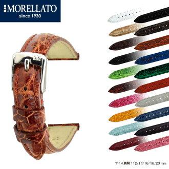 看看皮帶手錶帶 italiamorellerto Inc.手錶皮帶特雷西 (麥迪) 鱷魚皮革手錶皮帶 X 2197052 手錶皮帶手錶皮帶手錶帶