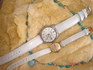 時計ベルトをモレラートのサンバとシンに交換したオメガ
