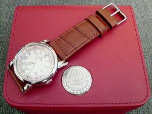 時計ベルトをモレラートのアンコラとボーレに交換したオメガ スピードマスタープロフェッショナル