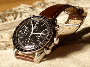 時計ベルトをモレラートのグラッフィックに交換したオメガ スピードマスターオートマチック