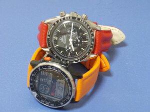 時計ベルトをモレラートのスピードとティポロックマンに交換したオメガ スピードマスタープロフェッショナル