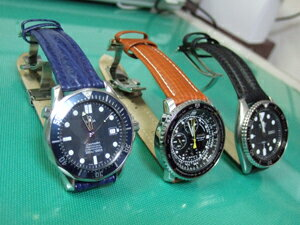 時計ベルトをモレラートのオンタリオとティポブライトリングクオイオとスピードに交換したオメガ シーマスター