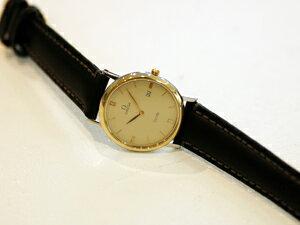 時計ベルトをモレラートのミケランジェロに交換したオメガ アンティーク