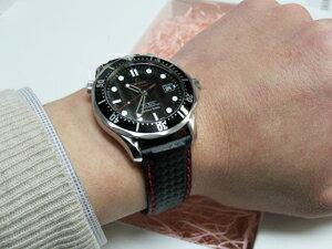 時計ベルトをモレラートのバイキングに交換したオメガ シーマスター