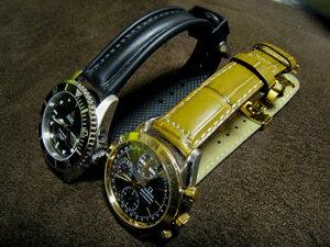 時計ベルトをモレラートのケイマンとグットゥーゾに交換したオメガ スピードマスターデイデイト