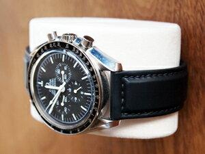 時計ベルトをモレラートのダンカンに交換したオメガ スピードマスタープロフェッショナル(手巻き)