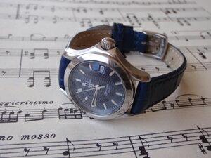 時計ベルトをモレラートのボーレに交換したオメガ シーマスター