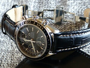 時計ベルトをモレラートのプラスに交換したオメガ スピードマスター デイデイト