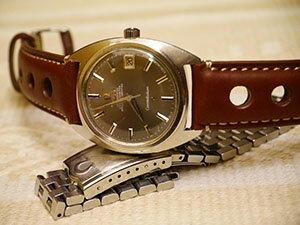 時計ベルトをモレラートのジョットに交換したオメガ コンステレーション クロノメーター