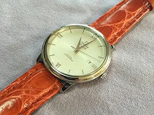 時計ベルトをモレラートのティポ ブライトリングに交換したOMEGA DE-VILLE PRESTIGE