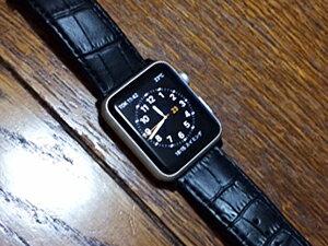 時計ベルトをモレラートのボーレに交換したアップルウォッチ