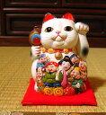 招き猫七福神(小) 楽ギフ_包装 まねきねこ 陶器 招き猫 貯金箱 置物