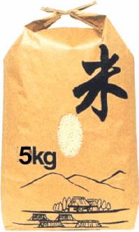 クラフト(紙)の米袋5kg用『米』ひも付 1枚