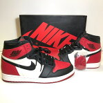 NIKE ナイキ AIR JORDAN 1 RETRO HIGH OG BRED TOE GYM RED 555088-610 UK10 29cm エアジョーダン1 ブレッド つま黒