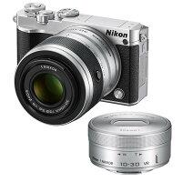 《新品》Nikon(ニコン)Nikon1J5ダブルズームレンズキットシルバー