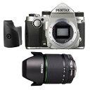 《新品》PENTAX (ペンタックス) KP + DA 18-135mm F3.5-5.6ED AL(IF)DC WR グリップM シルバー【SanDisk ExtremePRO SDHCカード UHS-I 32GB プレゼント】[ デジタル一眼レフカメラ | デジタル一眼カメラ | デジタルカメラ ]