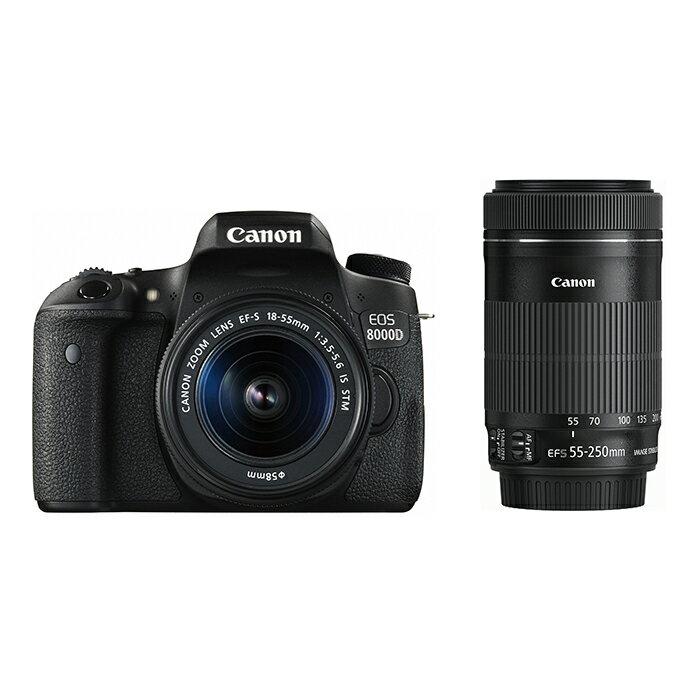 《新品》 Canon (キヤノン) EOS 8000D ダブルズームキット [ デジタル一眼レフカメラ | デジタル一眼カメラ | デジタルカメラ ]