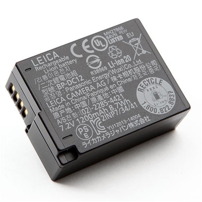 《新品アクセサリー》 Leica (ライカ) リチウムイオンバッテリー BP-DC12 (対応機種 :Q(Typ116) )