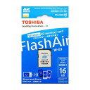 《新品アクセサリー》 TOSHIBA (トウシバ) 無線LAN搭載メモリーカード FlashAir 16GB Class10 W-03 SD-R016G