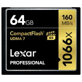 《新品アクセサリー》 LEXAR(レキサー) Professional 1066x CFカード 64GB LCF64GCRBJPR1066〔納期未定・予約商品〕【KK9N0D18P】