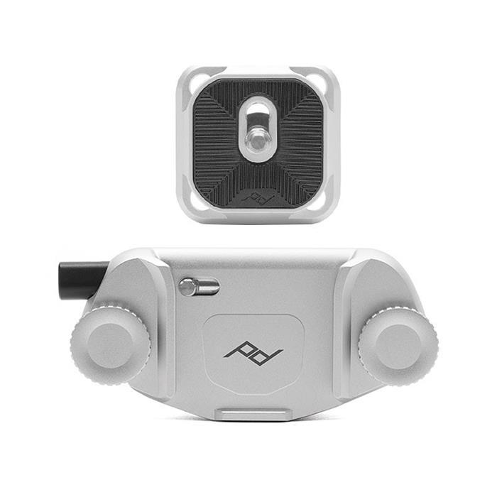 《新品アクセサリー》 peak design (ピークデザイン) キャプチャーカメラクリップ V3 スタンダードプレート付き シルバー【KK9N0D18P】