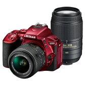《新品》 Nikon (ニコン) D5500 ダブルズームキット レッド [ デジタル一眼レフカメラ | デジタル一眼カメラ | デジタルカメラ ]※お一人様1点限り