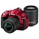 《新品》 Nikon (ニコン) D5300 ダブルズームキット2 レッド [ デジタル一眼レフカメラ | デジタル一眼カメラ | デジタルカメラ ]【在庫限り(生産完了品)】