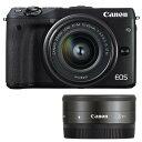 《新品》 Canon(キヤノン) EOS M3 ダブルレンズキット2 ブラック[ ミラーレス一眼カメラ | デジタル一眼カメラ | デジタルカメラ ]