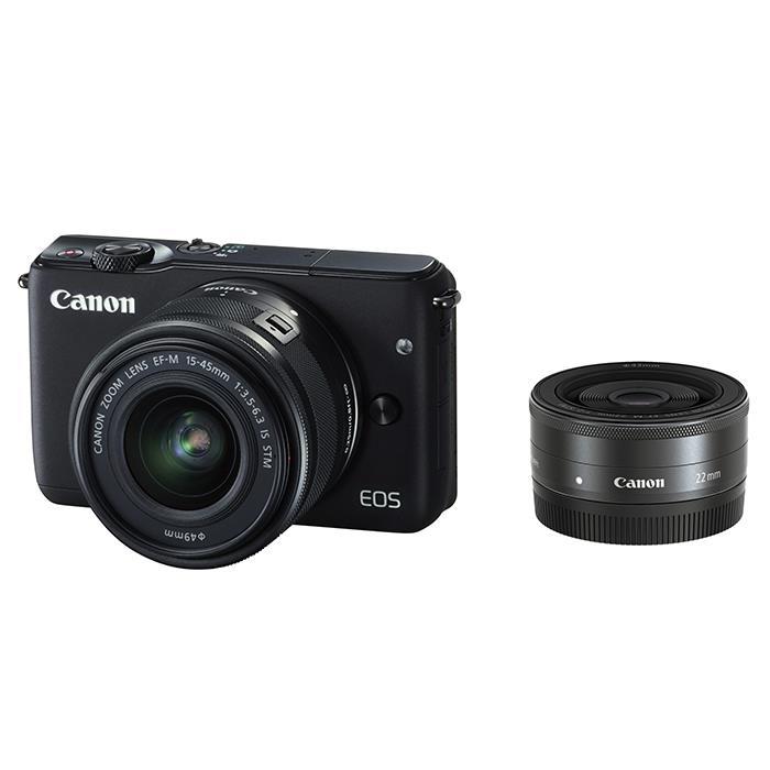 《新品》 Canon (キヤノン) EOS M10 ダブルレンズキット ブラック [ ミラーレス一眼カメラ | デジタル一眼カメラ | デジタルカメラ ]