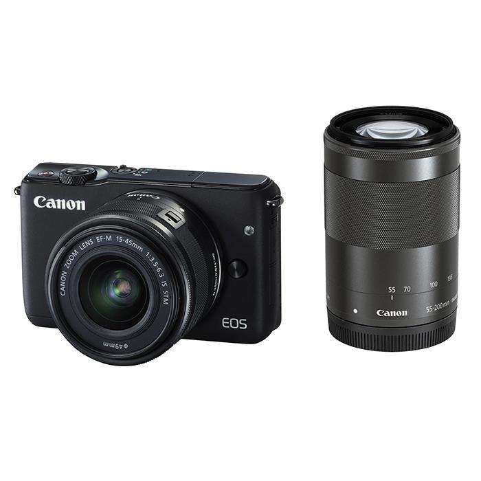 《新品》 Canon (キヤノン) EOS M10 ダブルズームキット ブラック [ ミラーレス一眼カメラ | デジタル一眼カメラ | デジタルカメラ ]