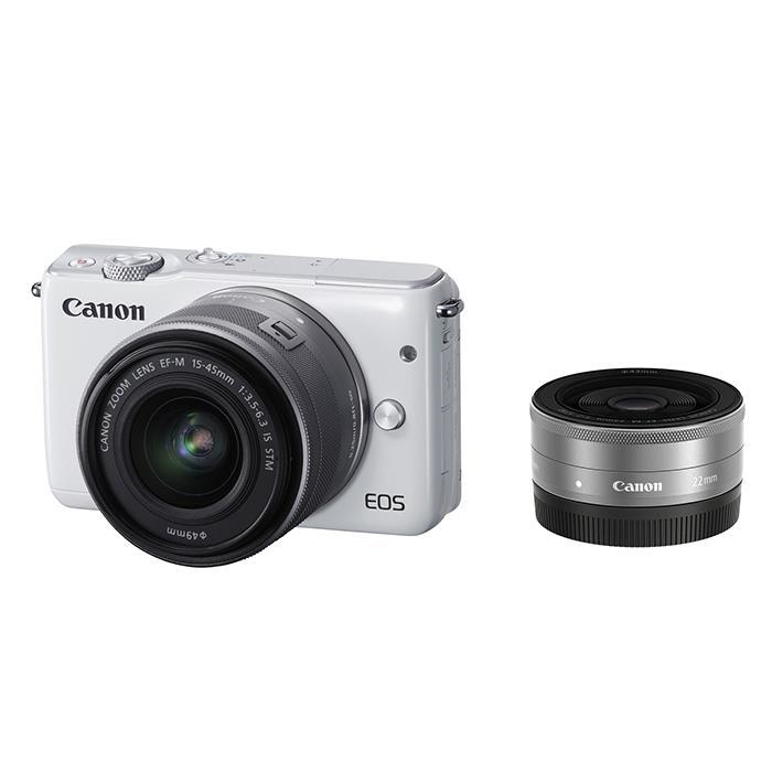 《新品》 Canon (キヤノン) EOS M10 ダブルレンズキット ホワイト [ ミラーレス一眼カメラ | デジタル一眼カメラ | デジタルカメラ ]