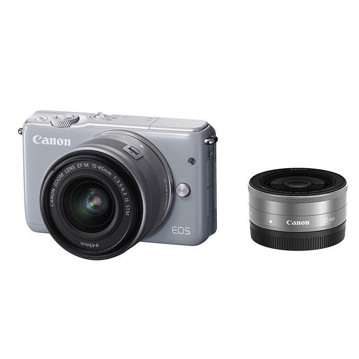 《新品》 Canon (キヤノン) EOS M10 ダブルレンズキット グレー [ ミラーレス一眼カメラ | デジタル一眼カメラ | デジタルカメラ ]