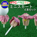 【メール便送料無料】 バラエティー ミニスカート 4本セット W11TEE046 / ゴルフ ティー ゴルフティ ゴルフ小物 ゴルフ用品