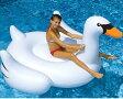 特大白鳥 スワン浮き輪 190cm 大人も子供もOK  海水浴、プールに 特大うきわ Leisure Giant Swan