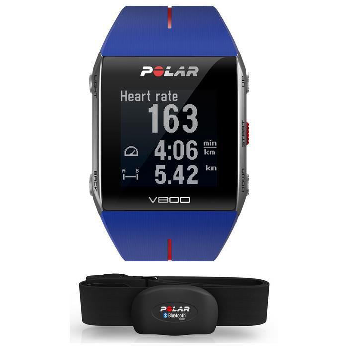 POLAR (ポラール) V800 HR 心拍センサー付 GPSマルチスポーツ ウォッチ ブルー 【自転車】 (POLAR20151110)