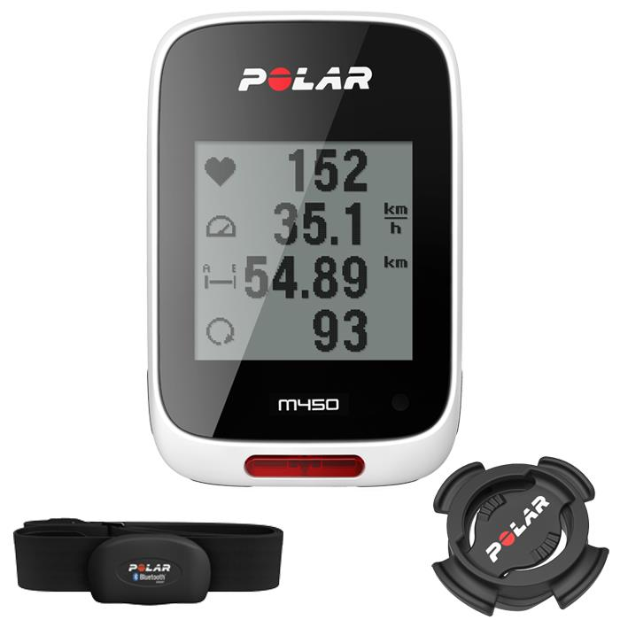 POLAR (ポラール) M450 HR 心拍センサー付 トレーニングコンピューター ホワイト 【自転車】 (POLAR20151110)