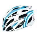 SH+ (エスエイチプラス) SHABLI S-LNIE シャブリ エス ライン ホワイト/ブルー ヘルメット S/L 【自転車】【ロードバイク】