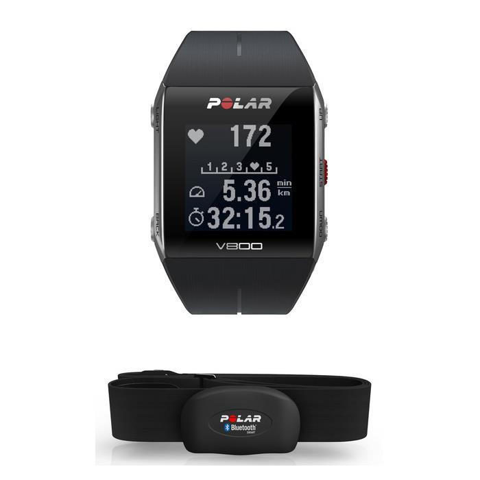POLAR (ポラール) V800 HR 心拍センサー付 GPSマルチスポーツ ウォッチ ブラック/グレー 【自転車】 (POLAR20151110)