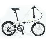 tern (ターン) 2016モデル Link C8 リンク C8 完成車 ホワイト/グリーン 【折畳み自転車】【自転車】